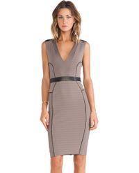 Lapina By David Helwani Lapina Kimberly V Neck Dress - Lyst