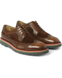 Paul Smith Contrast-sole Leather and Suede Derby Brogues - Lyst