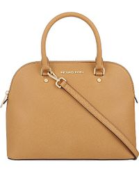 MICHAEL Michael Kors Cindy Large Saffiano Leather Satchel Bag - For Women - Lyst