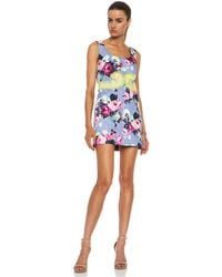 Carven Embroidered Flower Cottonblend Dress - Lyst