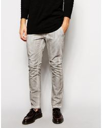 Cheap Monday Slim Fit Coated Chinos - Lyst