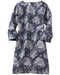 Gap Floral Jacquard Shift Dress - Lyst