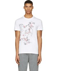 McQ by Alexander McQueen White American Map T_Shirt - Lyst