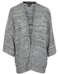 Topshop Knitted Tweedy Stitch Kimono Cardigan - Lyst