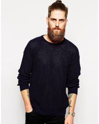 American Apparel Knitted Fishermans Sweater - Lyst