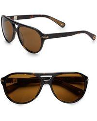 2c9ff49853 Sperry Top-Sider - Newport Oversized Aviator Sunglasses - Lyst