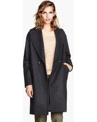 H&M Coat in A Wool Mix - Lyst
