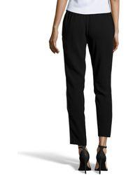 Rachel Zoe Black Woven 'Layne' Zip Detail Tapered Sweatpants - Lyst