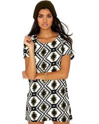 Missguided Suzanne Tribal Mini Dress  - Lyst