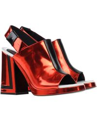 Kenzo Red Sandals - Lyst