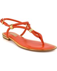 Michael Kors Orange Hartley Sandal - Lyst