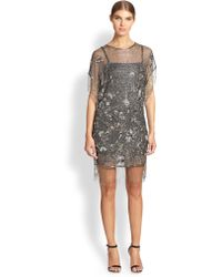 Haute Hippie Edina Fringe Trimmed Metallic Dress - Lyst