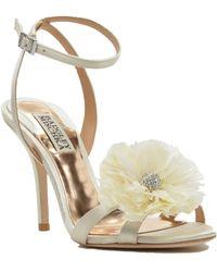 Badgley Mischka Karol Feather Adorned Evening Shoe - Lyst
