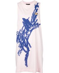 Vivienne Westwood Anglomania Printed Sleeveless Dress pink - Lyst