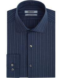 DKNY Dobby Stripe Dress Shirt - Lyst