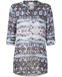 Linea Weekend Aztec Printed Woven Blouse - Lyst