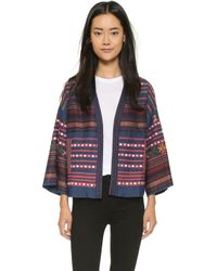 Love Sam - Baja Embroidered Jacket - Denim Combo - Lyst