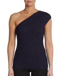 M Missoni Oneshoulder Stretch Fishnet Top - Lyst