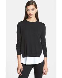Trouvé Contrast Underlay Sweater - Lyst