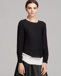 Twelfth Street by Cynthia Vincent Blouse Double Layer Silk - Lyst