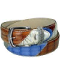 Manieri - Embossed Leather Patchwork Belt - Lyst