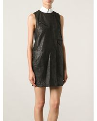 Mm6 By Maison Martin Margiela Brown Sleeveless Dress - Lyst