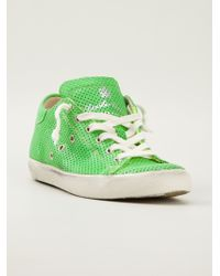 Leather Crown Perforated Trainer - Lyst