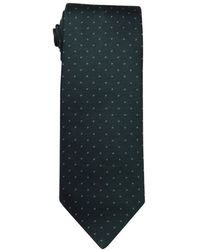 Hermès Dark Green And Blue Dotted Silk Tie - Lyst