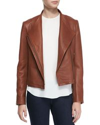 Theory Phelan New Ford Leather Jacket - Lyst