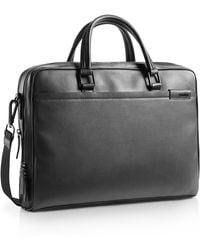 Calvin Klein White Label Bradon Slim Double Computer Commuter Bag brown - Lyst