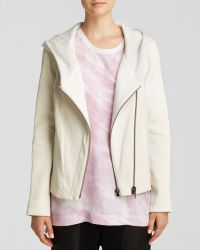 Helmut Lang Jacket - Wither Hooded Combo Leather - Lyst