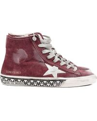 Golden Goose Deluxe Brand Womens Suede Heart High Top Sneaker - Lyst