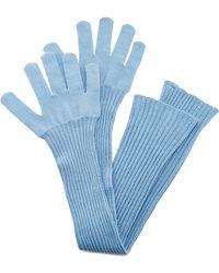 Oscar de la Renta - French Blue Wool Gloves - Lyst