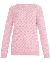 Chinti & Parker Basketweave Sweater pink - Lyst