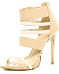 River Island Light Pink Strappy Sandals - Lyst
