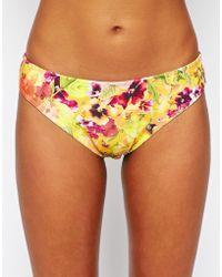 Freya Copacabana Classic Bikini Briefs floral - Lyst