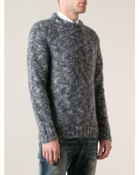 Diesel Gray Melange Sweater - Lyst