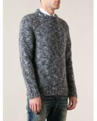 Diesel Gray Melange Sweater - Lyst