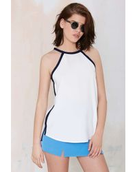 Nasty Gal Loose Control Crepe Top - Lyst