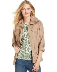 Jones New York Signature Petite Threequartersleeve Anorak - Lyst