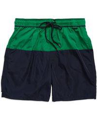 Calvin Klein Colorblocked Swim Trunks green - Lyst
