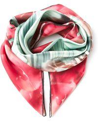 Elie Saab Floral Print Scarf - Lyst