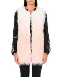 Juicy Couture Sleeveless Faux Fur Vest Angsgrd Icing - Lyst