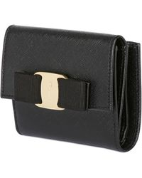 Ferragamo Saffiano Leather Small Wallet - Lyst