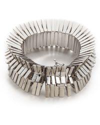 Eddie Borgo - Chevron Bracelet Silver - Lyst