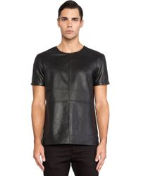 G-star Raw A Crotch Leather Tee - Lyst
