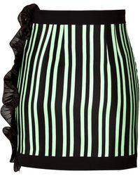 Emanuel Ungaro Silk Embellished Skirt - Lyst