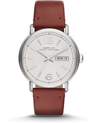 Marc By Marc Jacobs Fergus Stainless Steel & Leather Watch - Lyst