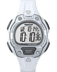 Timex - Mens Digital Ironman 50 Lap White Resin Strap 43mm T5k690um - Lyst
