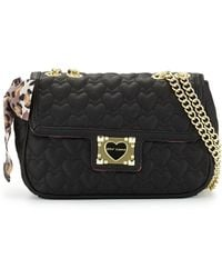 Betsey Johnson Heart-Quilted Shoulder Bag - Lyst